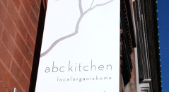 ABC Kitchen entrance, the beginning of a memorable meal